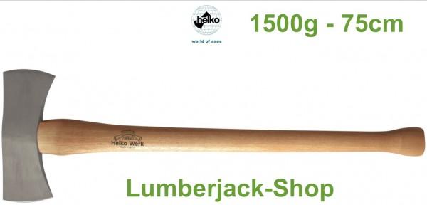 Wurfaxt - doppelte Fällaxt 75cm 1500g
