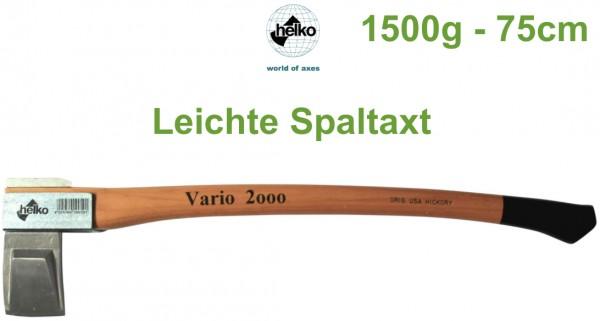Leichte Spaltaxt Helko Vario 2000 1500g 75cm