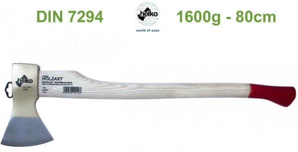 Holzaxt nach DIN 7294 1600g 80cm